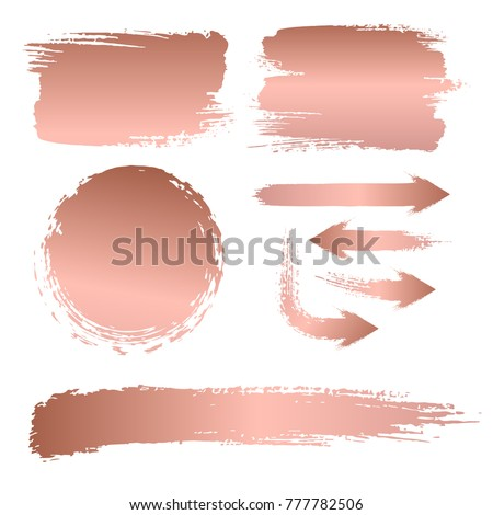 Set of brush strokes for the background of a billboard
