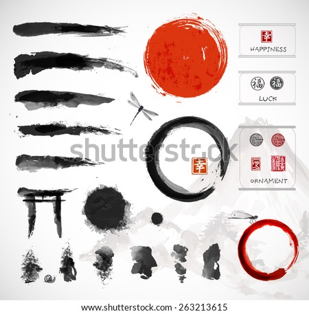 set of brushes and other design