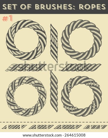 Rope brushes free download photoshop brushes download (2,410