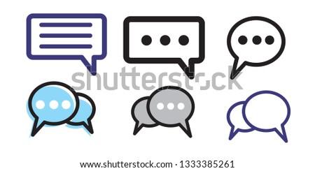 Set of bubble set icon