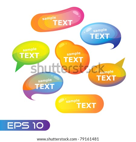 Set of bubbles for speech. Trendy vector. EPS 10. - stock vector
