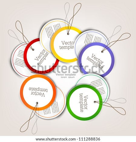 Set of bubbles, stickers, labels, tags. Vector template - stock vector