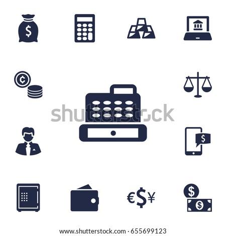 set of 13 budget icons set
