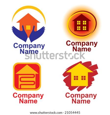set of building symbols - stock vector