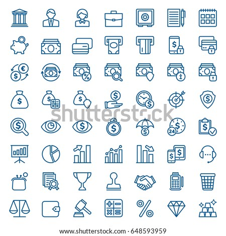 Set of business and finance icons. Vector illustration - Shutterstock ID 648593959
