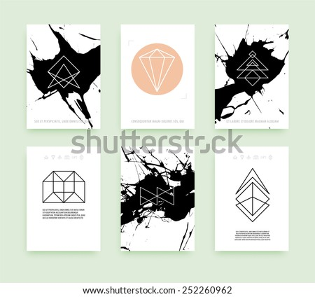 Free Geometric Business Card Vector Template - Download Free Vector ...