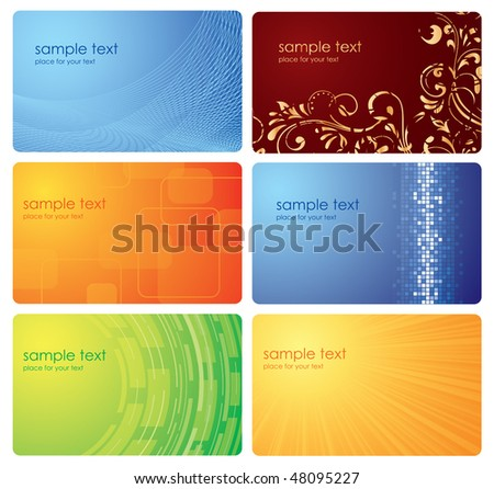 Set of business cards, illustration