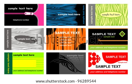 Set Of Business Cards. Vector