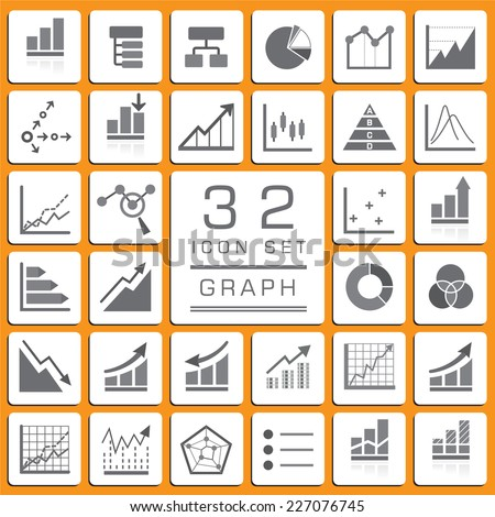set of business graph icons for