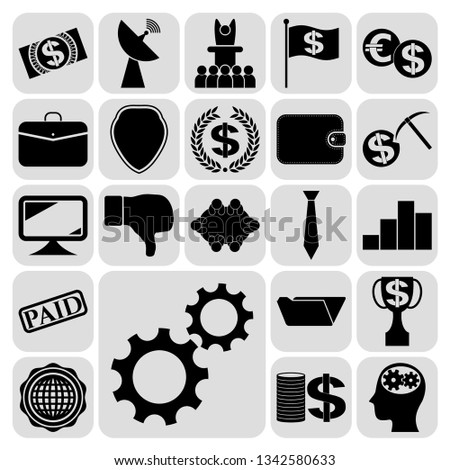 Set of 22 business icons, high quality. Collection. Amazing desing. Vector Illustration. #1342580633