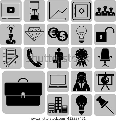 Set of 22 business icons. Quality Icons.