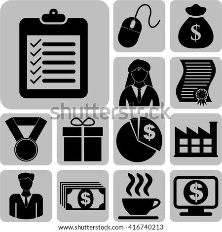 Set of 13 business icons. Quality Icons.