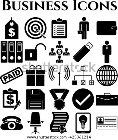 Set of 25 business icons. Quality Icons.