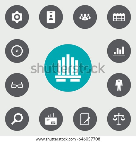 set of 13 business icons set