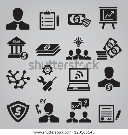 Set of business icons - vector icons