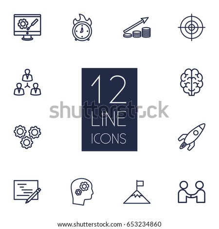 set of 12 business outline