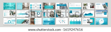 Set of business plan presentation template. Social media pack. Easy use in modern blog posts or Editable simple info banner, trendy book. For app, digital display style. Bright web flyer work. a4. ppt ストックフォト ©