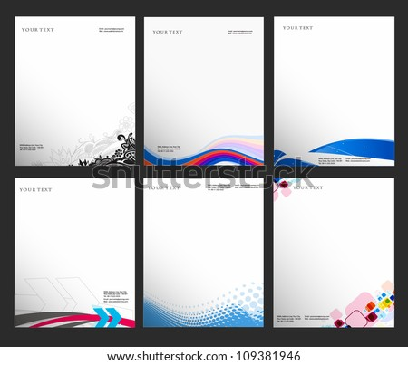 set of business style templates, Vector illustration