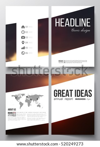 set of business templates for