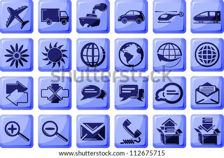 Set of 24 business transportation icons