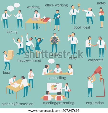 Activities simple design and easy to use stock vector illustration