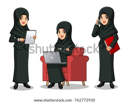 set of businesswoman in black