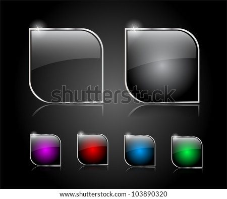 Set of buttons for web. Vector illustration.