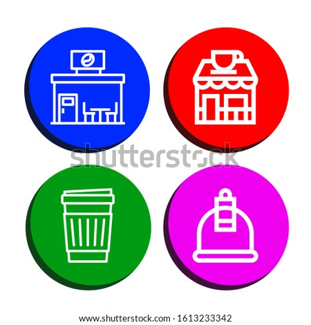 Set of caffeine icons. Such as Coffee shop, Paper cup, Cupping , caffeine icons