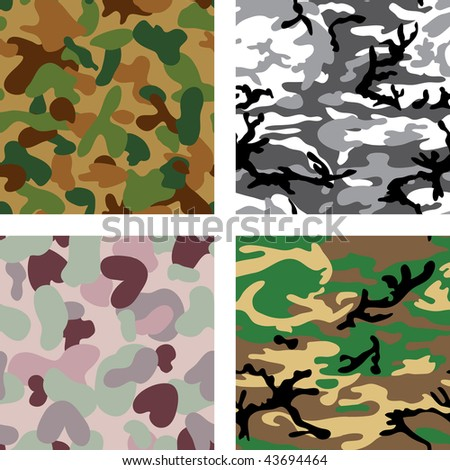 Leopard, Cheetah and Tiger Patterns   Vector Tiles