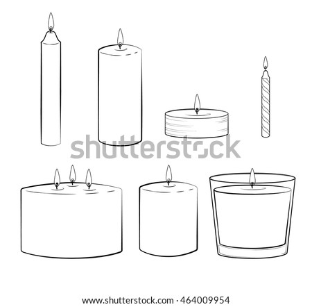 set of candles sticks  pillar