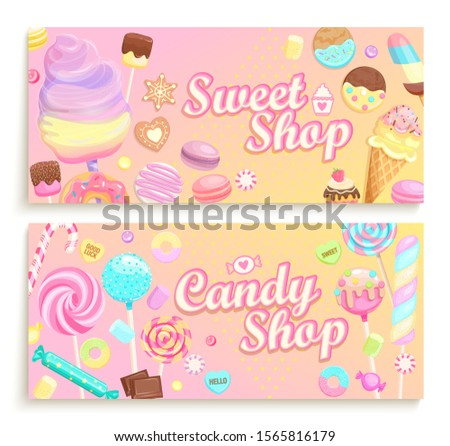 set of candy shop welcome