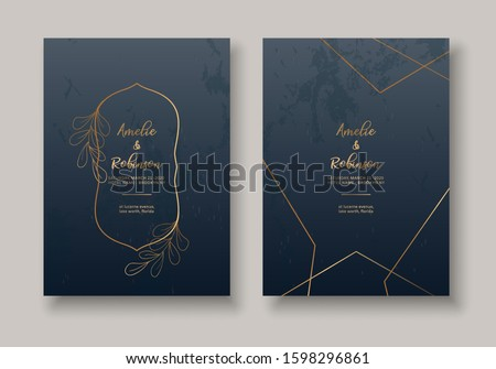 Set of Card with Flowers, Leaves. Wedding Floral Invitation. Floral Poster, Invite. Decorative Greeting Card or Invitation Design Background. Luxury Wedding Invitation Template. Vector EPS 10.