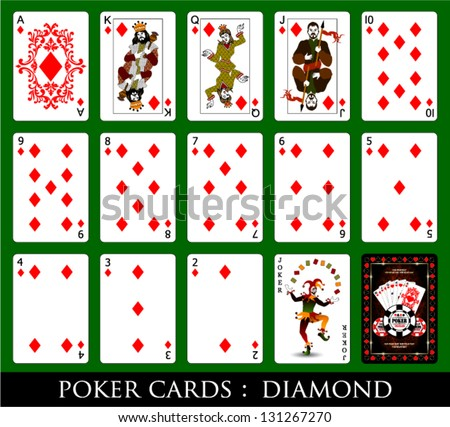 Set of Cards.All the Diamond