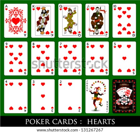 Set of Cards.All the Hearts.