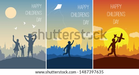 set of cards for happy children