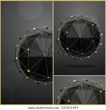 set of cards geometric vector