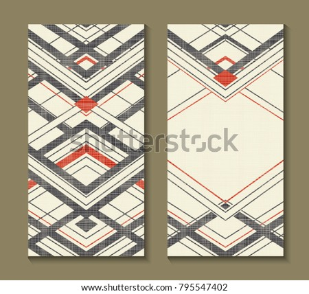 Free chevron business card vector template download free vector set of cards with art deco geometric pattern retro style texture modern abstract design colourmoves