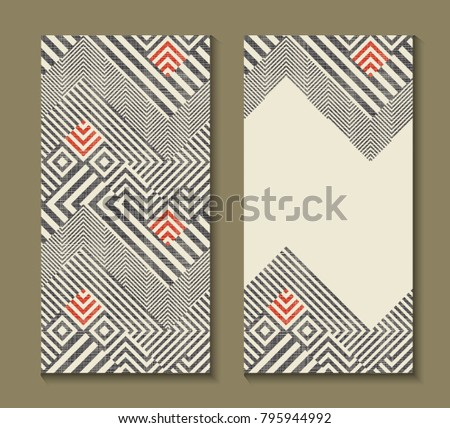 Modern geometric invitation download free vector art stock set of cards with art deco geometric pattern retro style texture modern abstract design stopboris Choice Image
