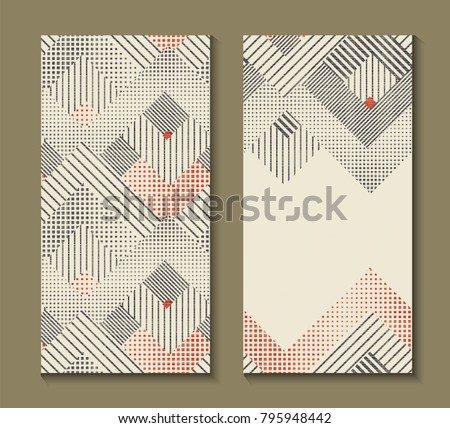 Modern geometric invitation download free vector art stock set of cards with art deco geometric pattern retro style texture modern abstract design stopboris Image collections
