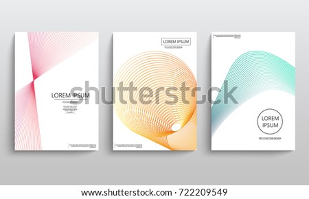 Set of cards with blend liqud colors. Futuristic abstract design. Usable for banners, covers, layout and posters. Vector #722209549