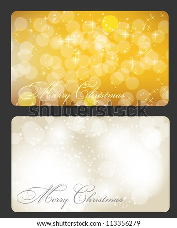 Set of cards with Christmas BALLS, stars and snowflakes, illustration