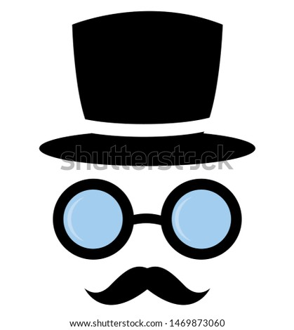 Set of Carnival Objects. Event objects. Party mask. Vector illustration #1469873060