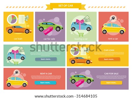 set of cars concepts car loan