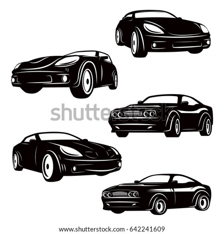 set of cars icons isolated on