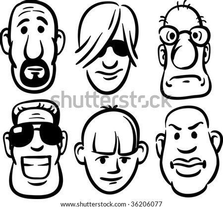 black and white photos of faces. lack and white faces: