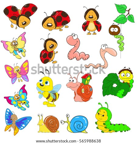 set of cartoon characters on a