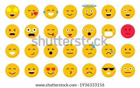 set of cartoon emoticons emoji