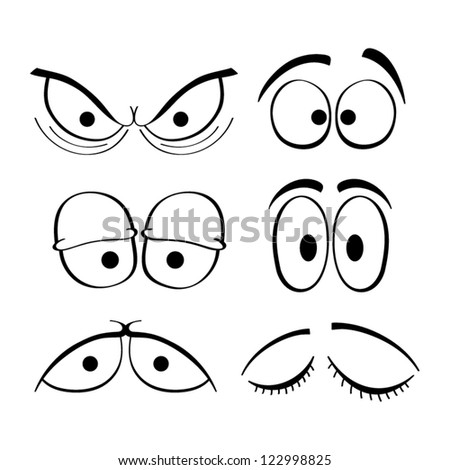Set of cartoon eyes. #122998825