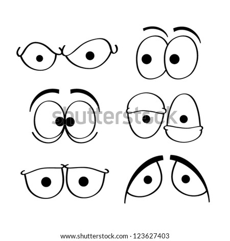 Set of cartoon eyes. #123627403