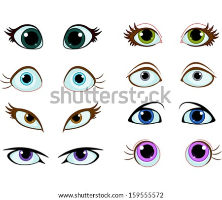 set of cartoon eyes with